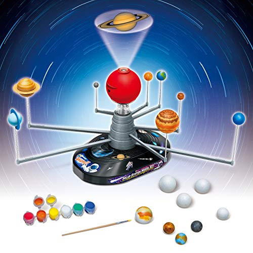 Product Image 5: Playz Solar System Model Kit with 4 Speed Motor, HD Planetarium Projector, 8 Painted Planets, and 8 White Foam Balls with Paint and Brush for a Hands-On STEM DIY Project