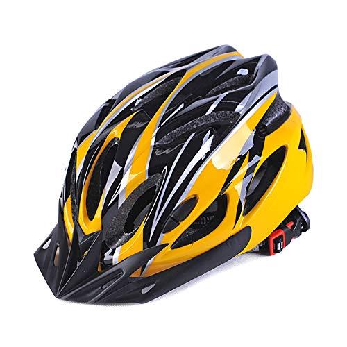 Huaheng Fahrradhelm für Erwachsene, Mountainbike, Integralform für Fahrrad, Radfahren, Herren und Damen, Gelb, Schwarz, Einheitsgröße