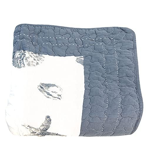 Clayre und Eef Q185.060 Bettüberwurf/Bett Decke Blau Muscheln Maritim Ca. 180 x 260 cm