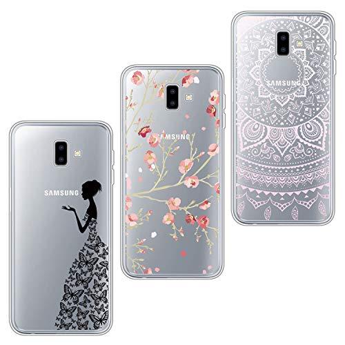 ivencase 3X Cover, Galaxy J6 Plus Cover Silicone TPU Flessibile Morbido Gomma Opaco Custodia Antiscivolo Satinato, Ultra Sottile Protettiva per Galaxy J6 Plus
