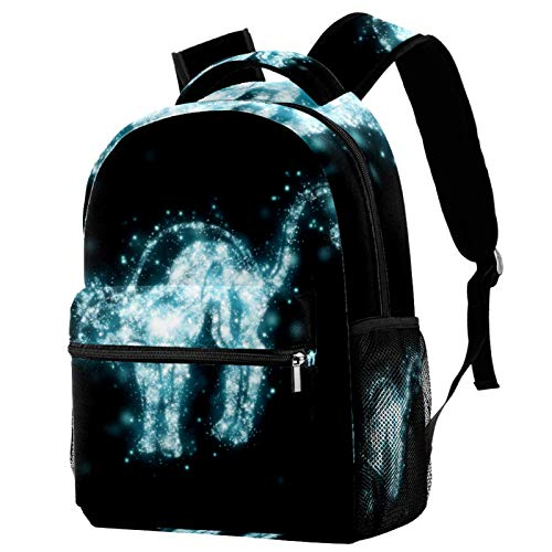 Laptop Backpacks Personality Travel Daypack with Bottle Side Pockets Dark Starlight Cat