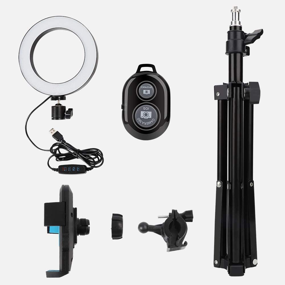 Free Shipping Cheap Bargain Gift Soapow Selling and selling 6 LED Ring Light with Tripod Stand US Color 3 Modes