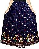 Kanika Fashion Women Maxi Skirt (Bluegujjariskirt01_Blue_XX-Large)