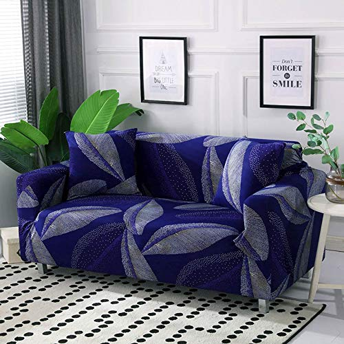 ASCV Funda de sofá de algodón Funda de sofá elástica Fundas de sofá elásticas para Sala de Estar Protector de Muebles de sofá en Forma de L Individual A3 4 plazas