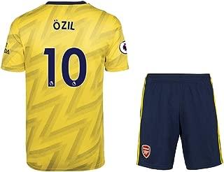 2019-2020 Arsenal Mesut Ozil #10 Men's Away Soccer Jersey & Short Kit Yellow