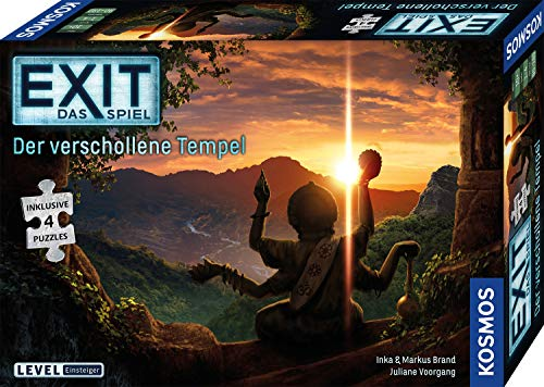 KOSMOS 692094 EXIT - Das Spiel + Puzzle - Der verschollene Tempel, Level: Einsteiger, Escape Room Spiel mit Puzzle