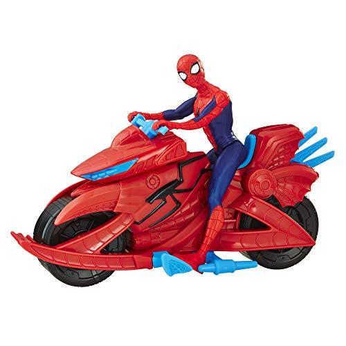 Hasbro Spider-Man Personaggio con veicolo moto per bambini da 4 anni in su, Multicolore, E3368