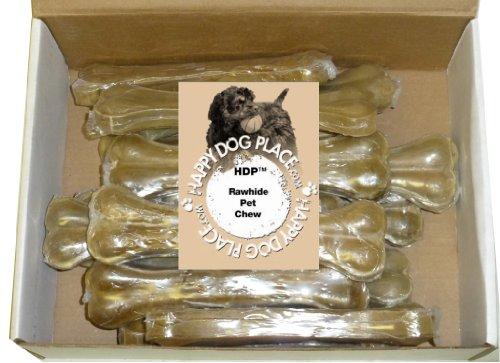 "HDP Premium Pressed Rawhide Bone 8"" Size:Pack of 10"