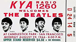 The Beatles - Candlestick Park - San Francisco - 1966 - Concert Ticket Poster