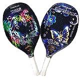 ACE Beach Tennis - Par de raquetas de tenis de playa 20 (Tiger Butterfly)
