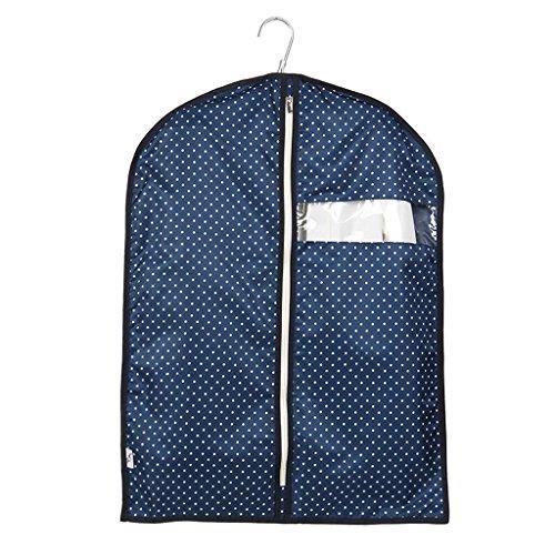 Xuan - Worth Another Bleu Point Blanc Motif 5 pièces lavables vêtements Housse de Protection de fenêtre fenêtre Costume Haute qualité Valise Sac Sac de Rangement (Taille : 60 * 80cm)
