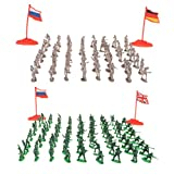 FLAMEER 400 Stücke 2cm Armee Männer Soldaten Figuren Battlefield Spielzeug