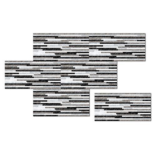 Realove Adhesivo decorativo para pared con diseño de ladrillo esmerilado, impermeable, para decoración del hogar, color blanco y negro
