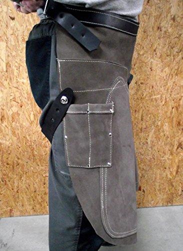 Förster-Fellnest Spezial Schmiedeschürze 65 cm Ausführung - Hufbeschlagschürze aus verstärktem, stabilen Leder für Hufschmiede, Hufpflege