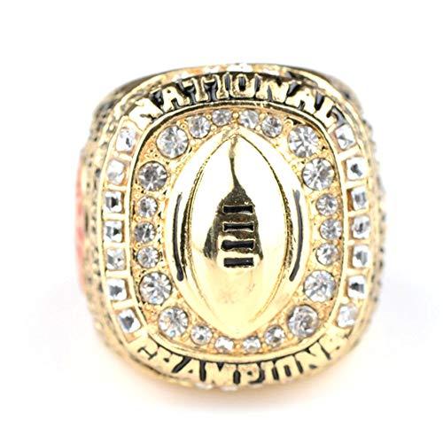 WSTYY NCAA 2015 Alabama Championship Ring Champion Rings Replica Creative Ring para Mujeres y Hombres,with Box,11#