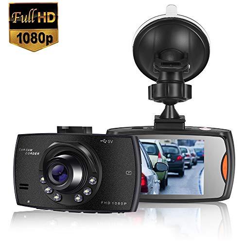 MASOMRUN Cámara de Coche 1080P Full HD Dash CAM 2.4 Pulgada LCD Conducir...
