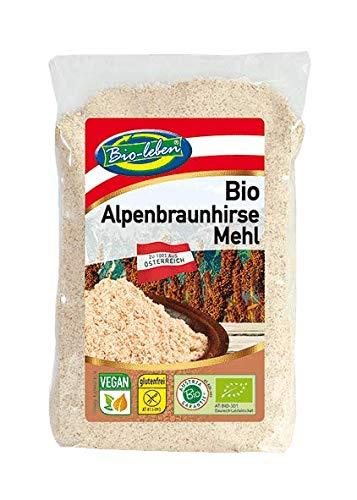 Farina di Miglio marrone austriaca, biologico senza glutine 400g BIO, senza OGM, da miglio marrone integrale organico non sbucciato proveniente dall'Austria, extra pulito e senza datura 400gr