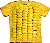 The Mountain 1037025 Corn On The Cob Adult Unisex Short Sleeve T-shirt 3X Yellow