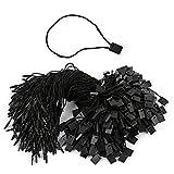 1000pcs Hang Tag String Lock Pin Loop Fastener Hook Ties Black Nylon Tag String Snap Easy ...