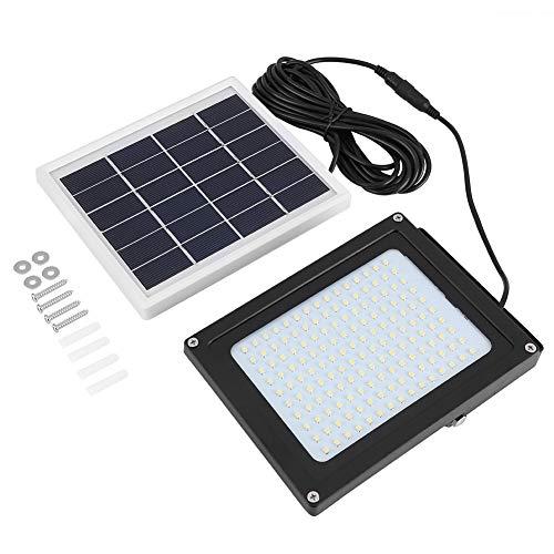 AYNEFY Luz LED de energía Solar, luz Solar, lámparas solares, luz de Cerca con Detector de Movimiento para Aleros, barandas, terraza, escaleras, jardín de Pasillo, Patio - luz Blanca
