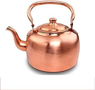 Sntsya Kettle 5L Copper Pot Gas Kettle Top and Soup Pot Flat Bottom Kettle Tea Kettle Boiler
