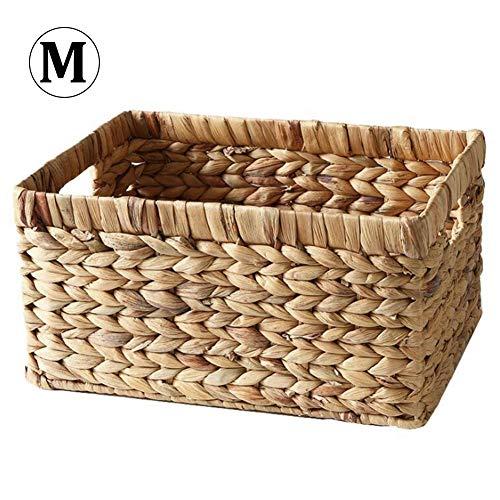 Ritapreaty Weidenkorb, natürlicher Strohkorb, rechteckig, gewebt, Regal, Weidenkorb, Picknickkorb, Einkaufskorb, M