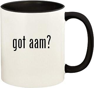 got aam? - 11oz Ceramic Colored Handle and Inside Coffee Mug Cup, Black
