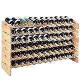 COSTWAY Botellero para 72 Botellas 119 * 29 * 71.5cm Madera Estante Organizador de Vino Porta