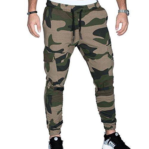 FRAUIT herfst winter sportbroek heren camouflage slakken casual elastische long pants heren casual herfst winter katoen hip hop sportbroek jogger cargo pants warm ademend comfortabel