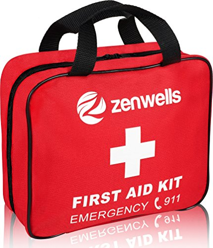 First Aid Kit Best for Emergency and Disaster Preparedness - 192 Piece Medical Supplies for Home, Car, Survival Gear or Backpacking - Travel Trauma Kits to Keep Your Family Safe!