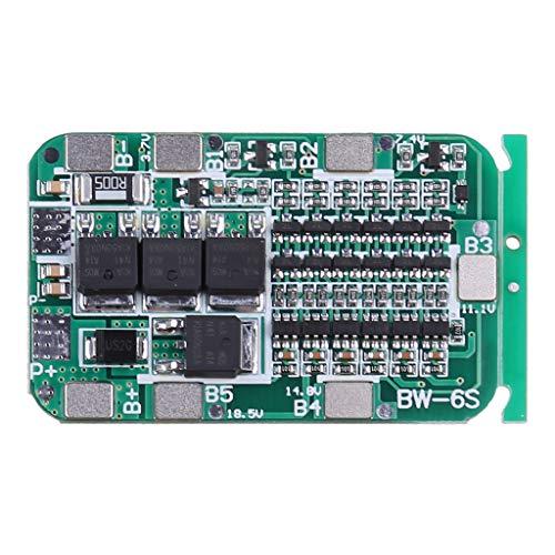 6S 15A 24V BMS Schutz PCB Board Für 6 Pack Li-Ionen-Lithium-Batterie 18650 Zellen