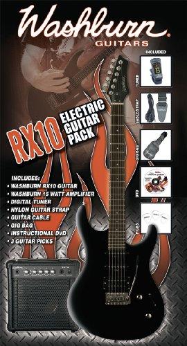 Washburn Rx-10 B Pack - Washburn Rx-10 B - Pack De Guitarra Electrica, 15 W