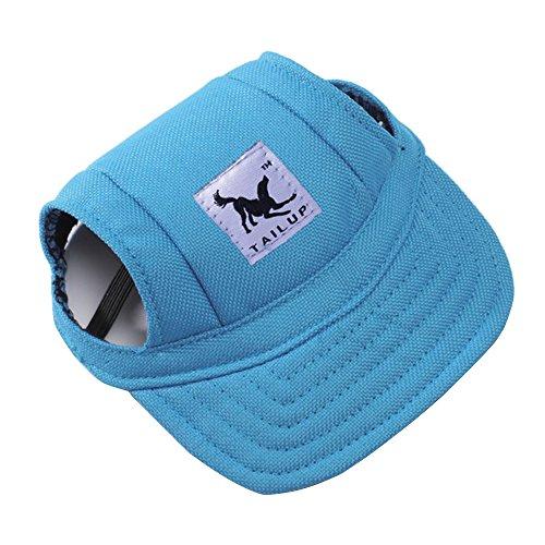 Alxcio Haustier Hunde Hüte Katze Kätzchen Prinzessin Gurt Hut Baseball Mütze Kappe Hat Sunbonnet für Klein Haustiere By Größe S (Blau)