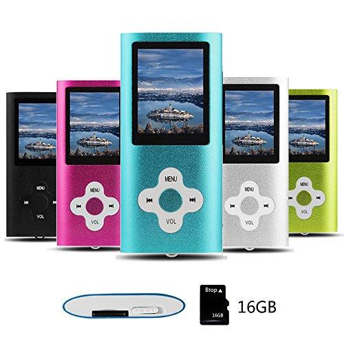 Btopllc MP3 Player MP4 Player Digital Music Player 16GB Internal Memory...