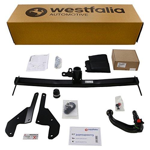 Westfalia abnehmbare Anhängerkupplung für 3 Schrägheck (BJ ab 10/13) im Set mit 13-poligem fahrzeugspezifischen Westfalia Elektrosatz