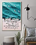 Postery Surfing Dance With The Waves Birthday Christmas Ideas Gift for Golf Surfer Portrait Poster And Canvas Birthday Gift Home Decor Wall Art Visual Art