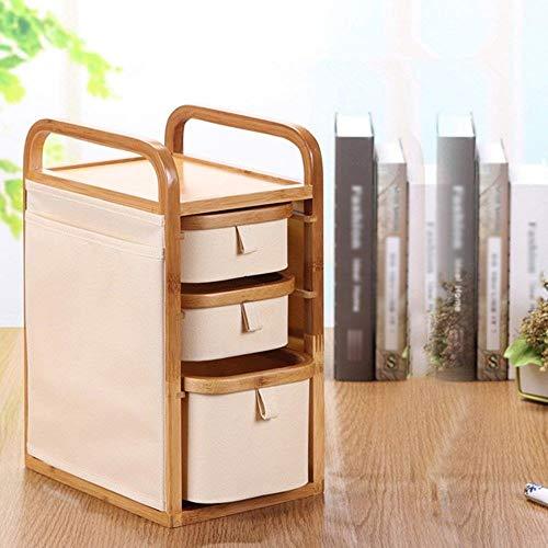 Zfggd Joyería de la Piel Caja de Almacenamiento cosmética Home Care Products Estante de Almacenamiento aderezo Simple Tabla de Escritorio de Gran Capacidad Acabado Cuadro de Tres Pisos