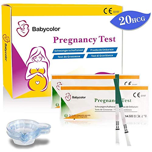 Pregnancy Test Strips, 20 Pregnancy (HCG) Urine Test Strips with Collection Cups High Sensitivity and Accurate Result for Early Detection Pregnancy,Women Home Testing