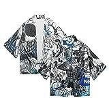 EDMKO Hunter×Hunter Cosplay Disfraz De Eventos Fiesta Disfraces Anime Kimono Conjunto Ropa Camiseta Manga Corta Capa De Adulto Hombres Y Mujeres,Multi Colored,M