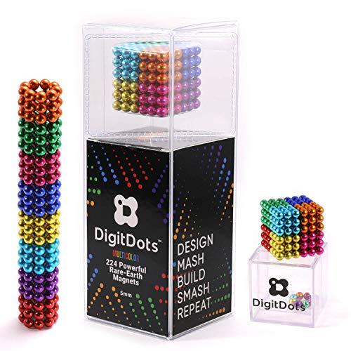 Multi Colored DigitDots 224 pieces 5 Millimeter Magnetic Balls The Original...