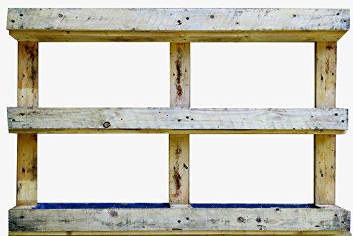 AD servicios Jardinera Vertical de Palet Reciclado 120x81x13 cm (huerto Urbano)