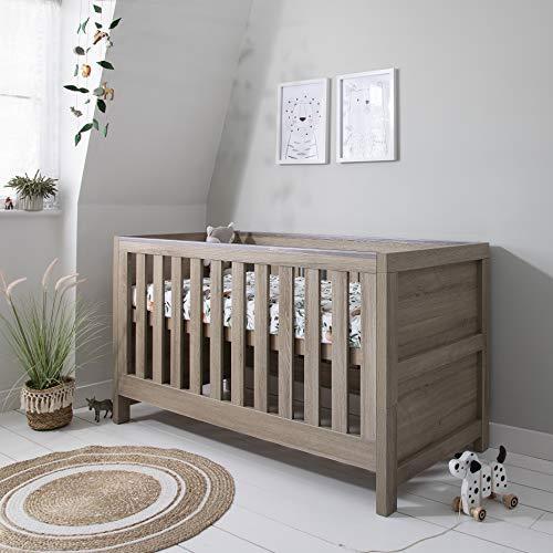 Tutti Bambini Modena Nursery Cot Bed - Converts into a Junior and Sofa Bed (Oak)