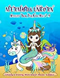 Mermaid Activity Book For Kids Ages 7-9 | Coloring & Drawing, Word Search, Mazes, Sudokus: A Workbook Cover Designed With Imaginary Hair Monofin Tails ... Boys & Girls Of Preschool & KG or Homeschool