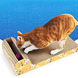 Cat Scratching Posts with Catnip Scratching Posts Durable Cat Toy Scratch Board, Ship from US Warehouse Home Garden Furniture