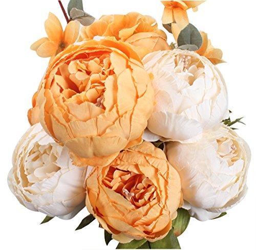 Xiuer klassische, künstliche Blumen, Pfingstrosen, Blumenstrauß für glorreiche Hochzeiten, Brautschmuck, Dekoration...