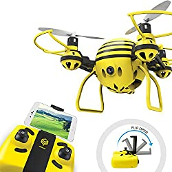 Drone with HD WiFi Camera Live Video RC Quadcopter Mini Quadcopter Drone for Kids & Beginners