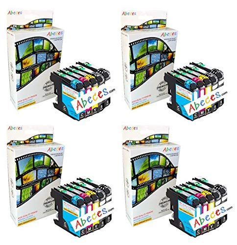 ABECES LC1000 Pack 20 Cartuchos de Tinta compatibles con Brother DCP-130C DCP-135C DCP-150C DCP-330C DCP-350C DCP-357C DCP-540CN DCP-560CN DCP-770CW FAX-1360 FAX-1460 FAX-2840
