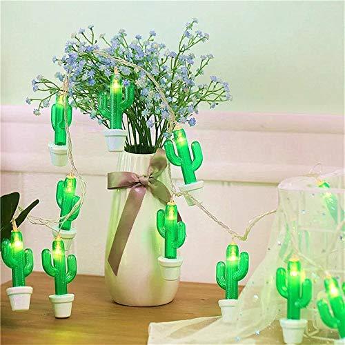 Lichterkette mit 20 LEDs, Kaktus, batteriebetrieben, für den Innen- und Außenbereich, dekorative Beleuchtung, 3 m