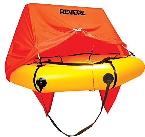 Revere Coastal Compact 4 with Canopy Life Raft