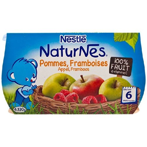 Nestlé NaturNes Apple y frambuesa (6 meses) 4 x 130g